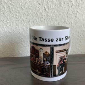 """Tasse Weiß – """"Die Tasse zur Show"""""""
